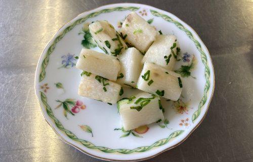 山芋の油炒め完成品